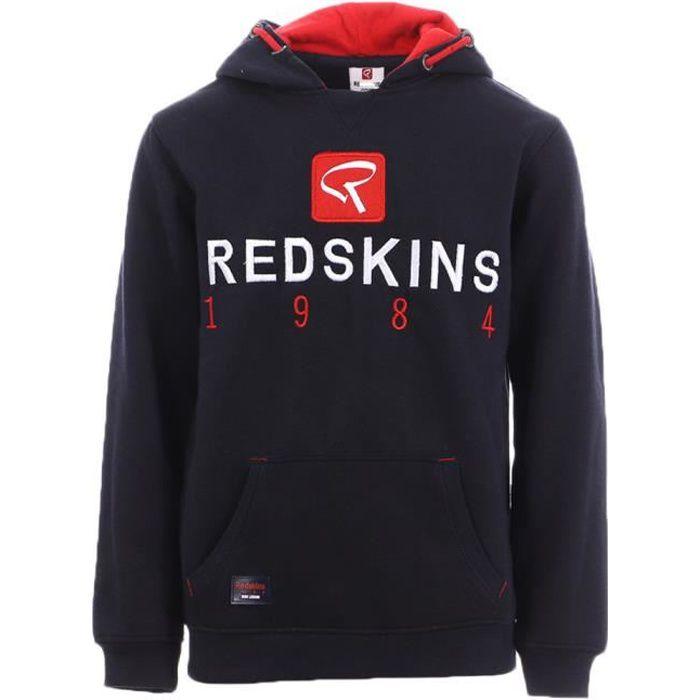 Sweat Bleu à Capuche Garçon Redskins JR