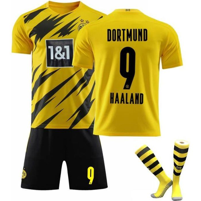 Maillot Haaland Dortmund 9 Maillot de Football Erling Haaland Football T-Shirt Jersey Set