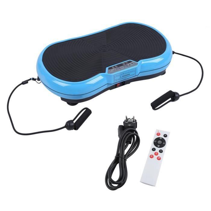 Plateforme Vibrante Oscillante professionnelle Fitness 200W bleu
