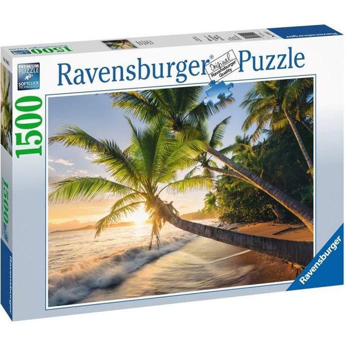 Puzzle 1500 pièces - Plage secrète - Ravensburger - Puzzle adultes - Dès 14 ans