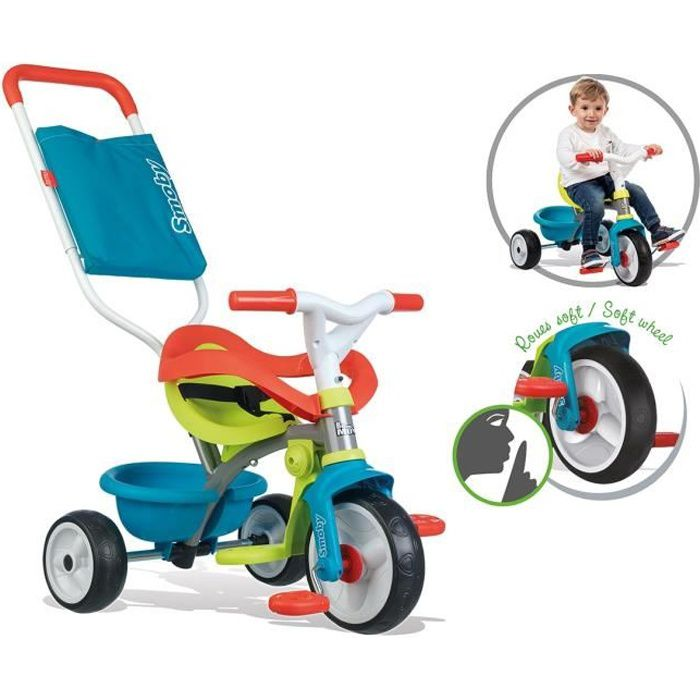 SMOBY Tricycle Evolutif Be Move Confort Bleu