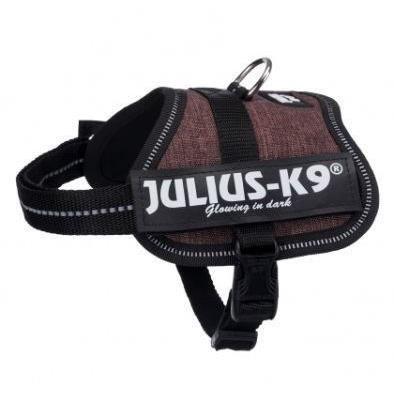 JULIUS K9 Harnais Power Baby 2–XS–S : 33–45 cm - 18 mm - Moka - Pour chien