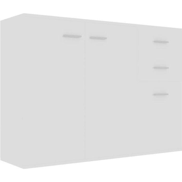 vidaXL Buffet Blanc brillant 105x30x75 cm Aggloméré