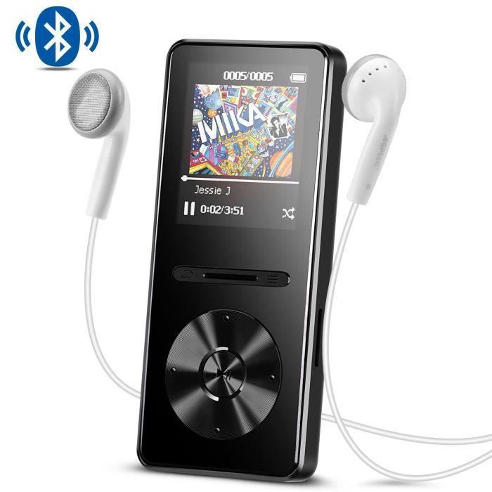 LECTEUR MP3 AGPTEK MP3 Bluetooth 4.0 Lecteur Radio en Métal 8G