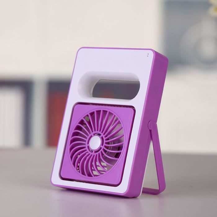 violet batterie rechargeable ventilateur usb mini bureau portatif office radiateur pour. Black Bedroom Furniture Sets. Home Design Ideas
