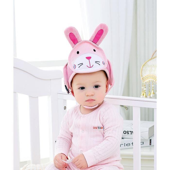 CASQUE ENFANT Lapin- Casque Bébé Anti-Chute, Bonnet Bébé de Sécu