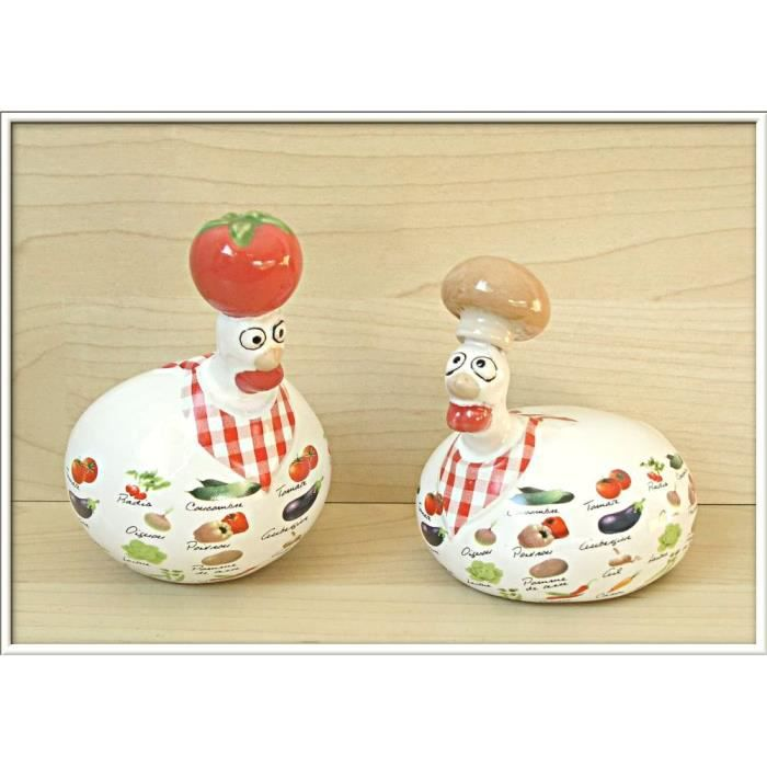 Poule c ramique j line lot 2 deco design l gumes achat for Poules decoration