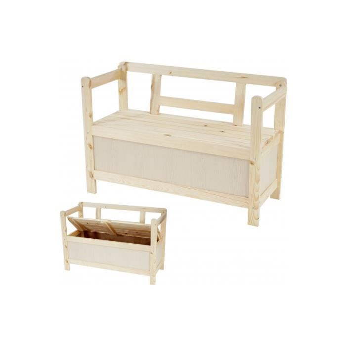 banc de jardin en bois massif coffre rangement achat. Black Bedroom Furniture Sets. Home Design Ideas