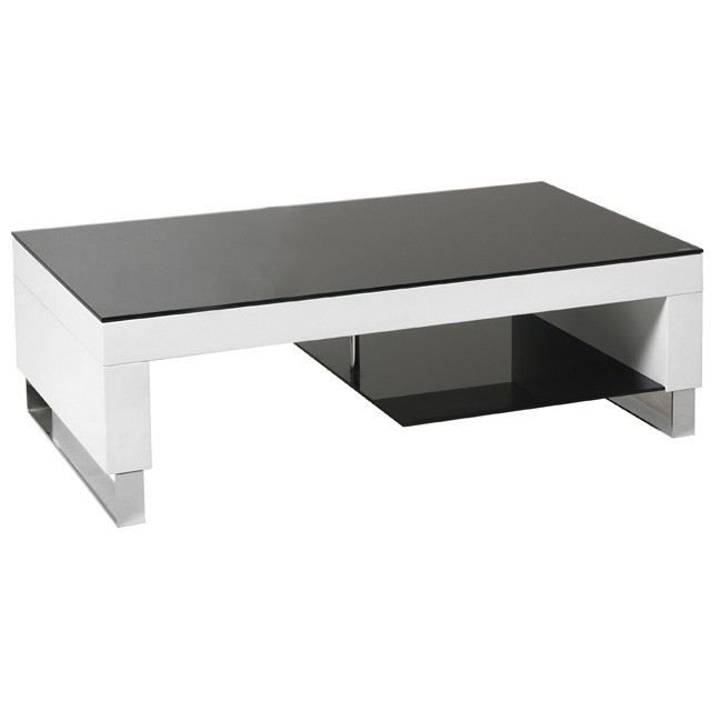table basse moderne en verre laqu blanche laka 1 achat. Black Bedroom Furniture Sets. Home Design Ideas