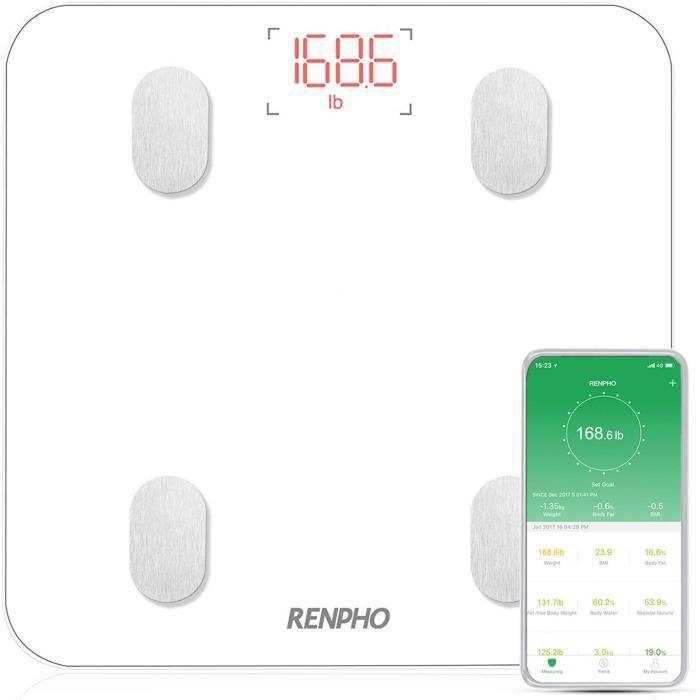 PÈSE-PERSONNE Balance Connecté, Pèse-Personne Bluetooth, Impedan