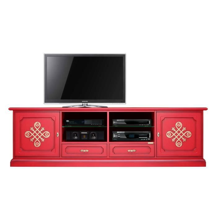 Meuble tv 2 m tres largeur red gold achat vente for Meuble tv 2 metres