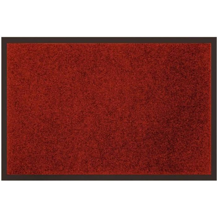 tapis uni anti poussi re 80x120 cm rouge achat vente tapis 100 polyester et 100 pvc. Black Bedroom Furniture Sets. Home Design Ideas
