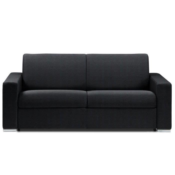 canap lit 2 3 places dreamer microfibre noir c achat vente canap sofa divan. Black Bedroom Furniture Sets. Home Design Ideas