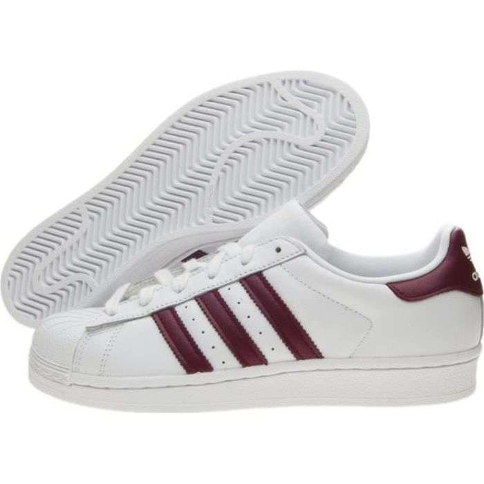 Baskets Adidas Superstar W D97999 Blanc Blanc