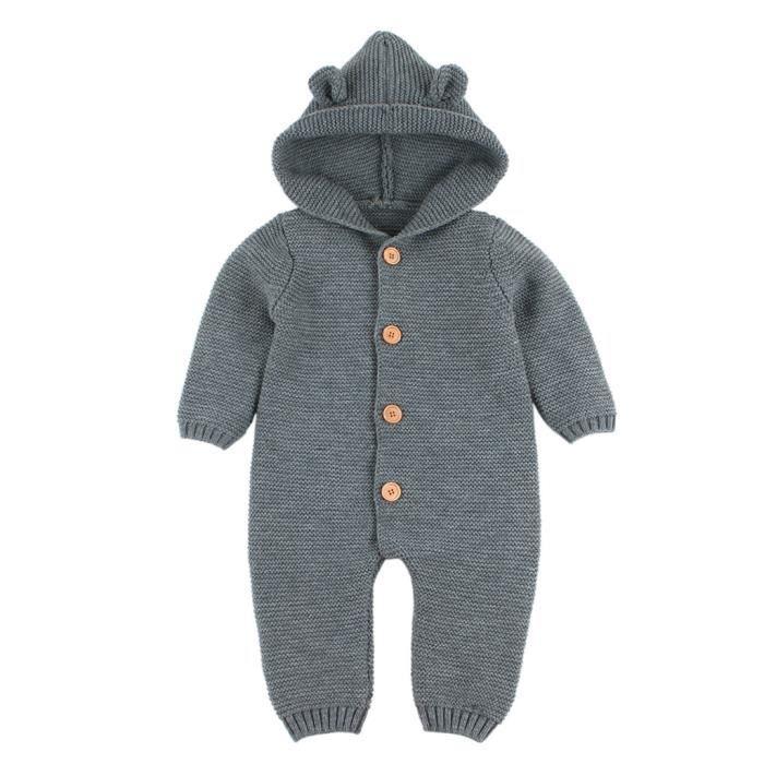 MANTEAU - CABAN Nouveau-né bébé garçon fille tricoté hiver barbote