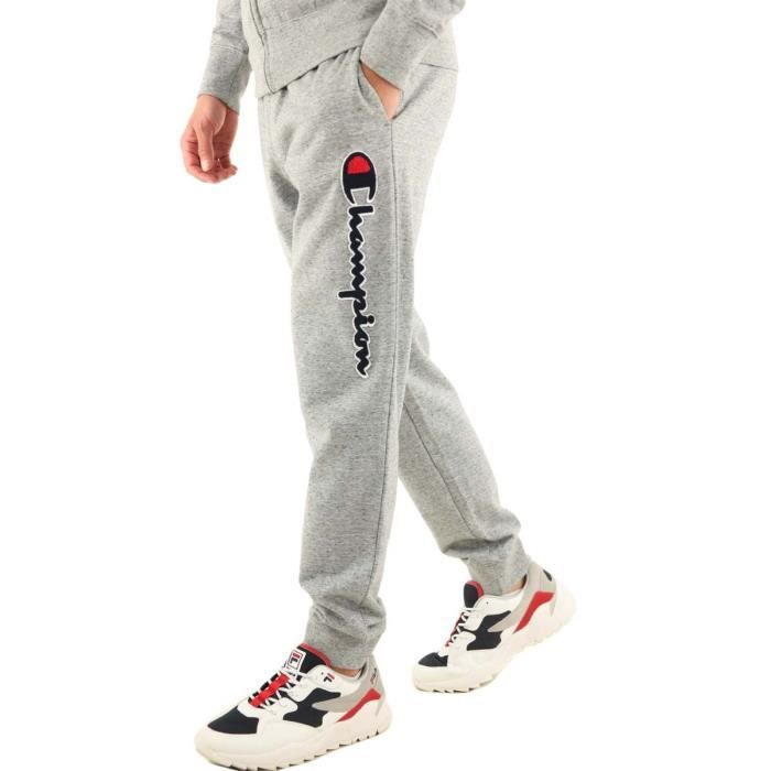 Champion Homme Jogging Survêtement Jersey Sweat Pantalon gris moyen 100/% coton homme