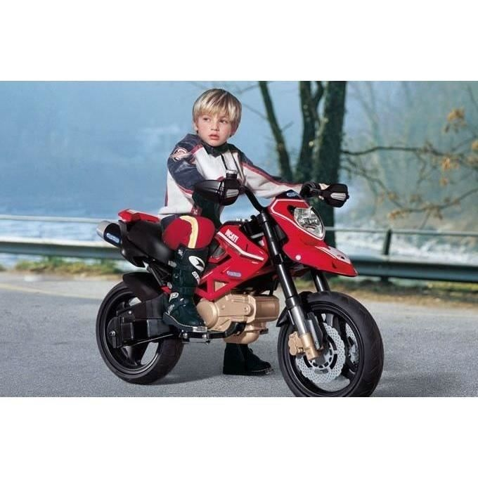 ducati moto electrique enfant hypermotard 12 volts avec klaxon achat vente moto scooter. Black Bedroom Furniture Sets. Home Design Ideas
