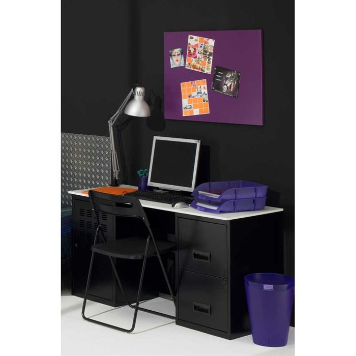 bureau etudiant design en metal achat vente bureau bureau etudiant design cdiscount. Black Bedroom Furniture Sets. Home Design Ideas