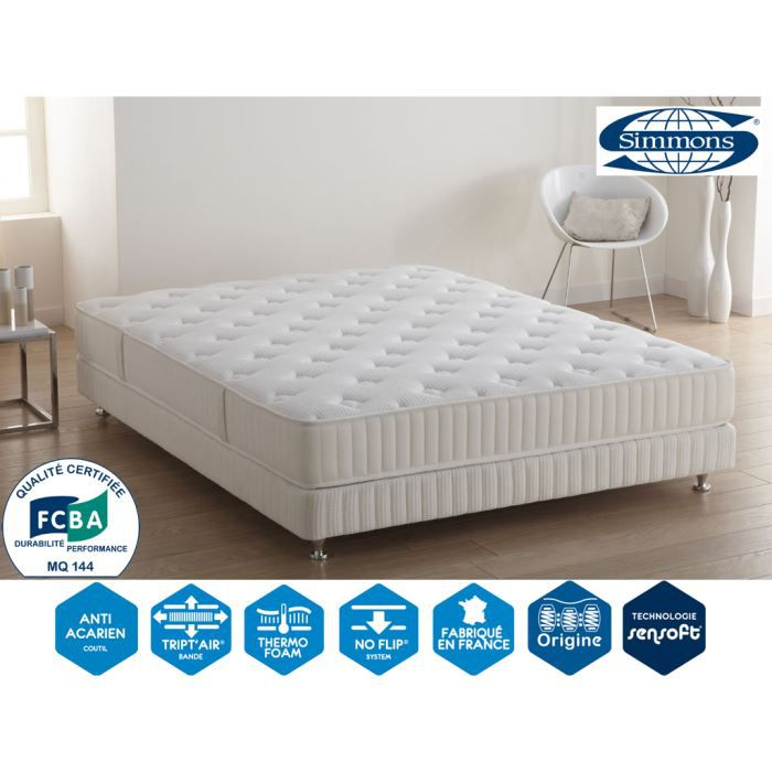 matelas op no flip 22 cm 140 x 190 simmons achat vente matelas cdiscount. Black Bedroom Furniture Sets. Home Design Ideas