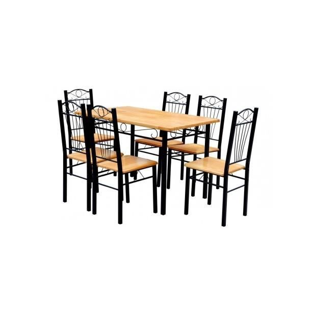 superbe table 6 chaises en contreplaqu achat vente. Black Bedroom Furniture Sets. Home Design Ideas