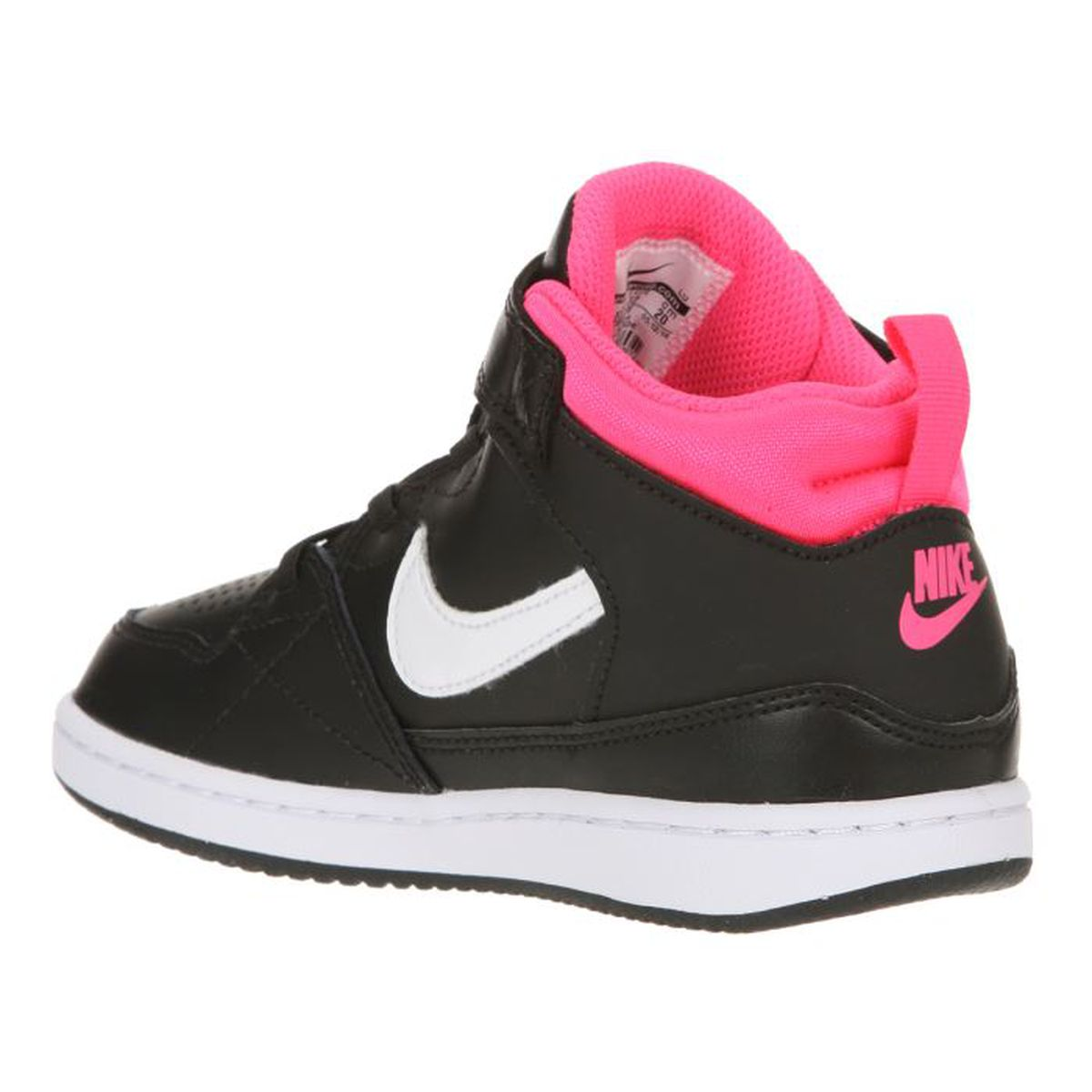 nike baskets priority mid ps enfant fille noir blanc rose achat vente basket cdiscount. Black Bedroom Furniture Sets. Home Design Ideas