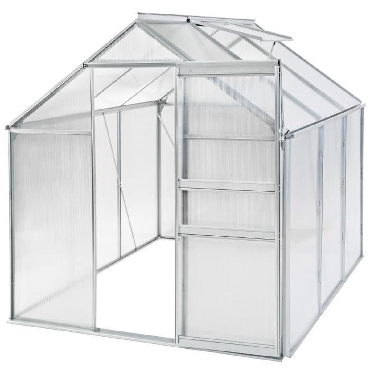 Serre de jardin aluminium 190x190x195 cm