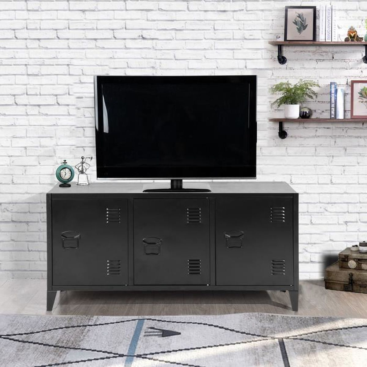 Commode Chambre Style Industriel commode metallique