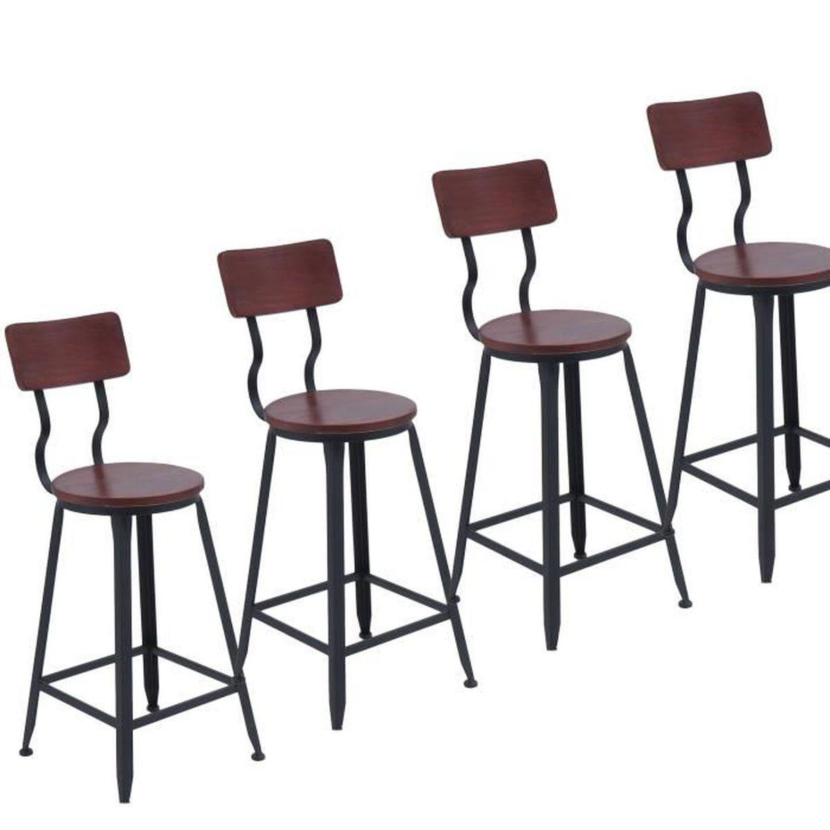 Chaises bar de de 4 style de de Lot bar industrieltabouret TFlKJ1c3