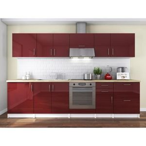 Cuisine laque taupe cuisine taupe mur rouge soul cuisine for Cuisine complete taupe