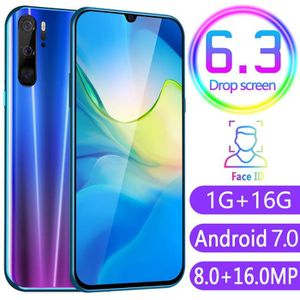 SMARTPHONE P80 Quad Core 6.3inch caméra HD Android 7.0 + 1G 1