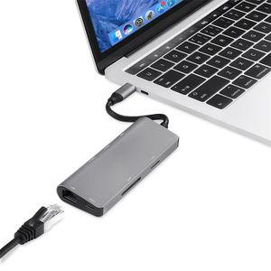 SWITCH - HUB ETHERNET  USB 3.0 Type C Hub Hdmi lecteur de carte SD Adapta