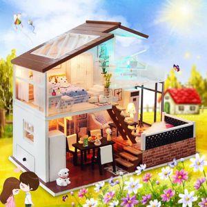 1:24 Salle cr/éative pour lid/ée Cadeau Cadeau de Vacances Fsolis Miniature avec des Meubles de Maison de poup/ée kit 3D Dollhouse en Bois Ainsi Que la poussi/ère et Le Mouvement de la Musique