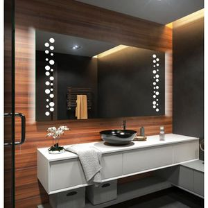 Miroir Led 100 Cm X 80 Cm Achat Vente Pas Cher