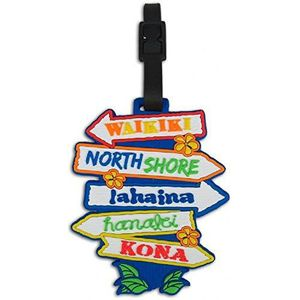 VALISE - BAGAGE Hawaii Pvc Id Luggage Tag Island Signs AQK5J