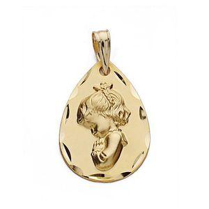 PENDENTIF VENDU SEUL Médaille pendentif Pendentif en or 18 carats 21mm
