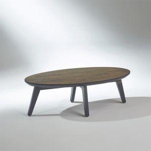 TABLE BASSE Table basse en bois recyclé, LUNA