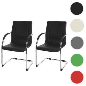 CHAISE 2x chaise de conférence Samara, chaise visiteurs c