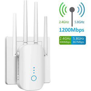 TouchSKY Amplificateur WiFi 1200Mbps R/ép/éteur WiFi N 867 Mbits//s 5,8 GHz 300 Mbits//s R/ép/éteur WiFi 2,4 GHz R/ép/éteur WLAN avec Port LAN R/ép/éteur WiFi Mode Routeur AP Double WLAN AC