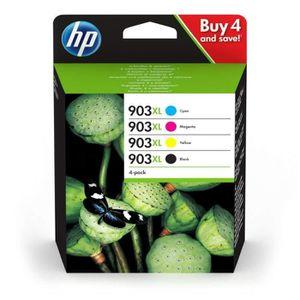 CARTOUCHE IMPRIMANTE HP 903XL pack de 4 cartouches d'encre noire-cyan-m