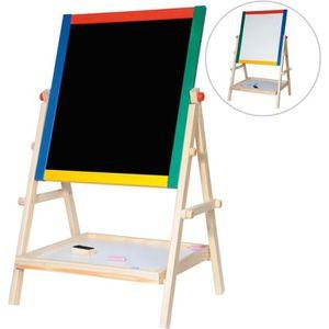 TABLEAU ENFANT CHALK Tableau en bois magnétique noir et blanc cra