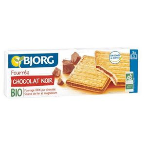 BISCUITS CHOCOLAT Fourrés chocolat noir bio 225 g Bjorg