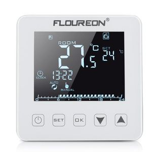 THERMOSTAT D'AMBIANCE Floureon 16A Thermostat d'Ambiance LCD Écran Tacti