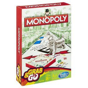 JEU SOCIÉTÉ - PLATEAU Hasbro Monopoly Grab & Go, Simulation économique,