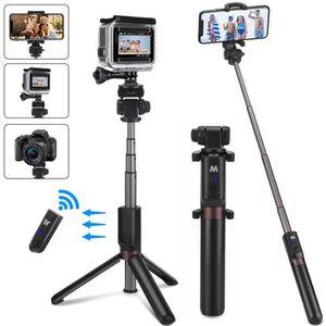 PERCHE - CANNE SELFIE 4 en 1 Perche Selfie Trépied pour Téléphone et Gop