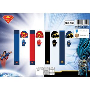 BONNET - CAGOULE Ensemble bonnet écharpe et gants Batman/superman
