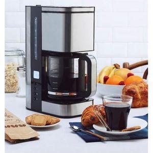 CAFETIÈRE SIMEO Cafetière Filtre Programmable 12 Tasses Inox