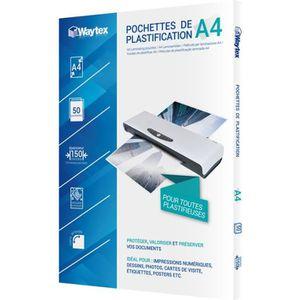 Genie 10275 Pack de 50 pochettes /à plastifier 125 microns pour format jusque A4 compatibles avec toutes les plastifieuses thermiques
