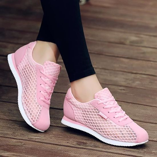 Chaussures Femme Basket Sneakers femmes Runing Shoes Rose Rose - Achat / Vente basket