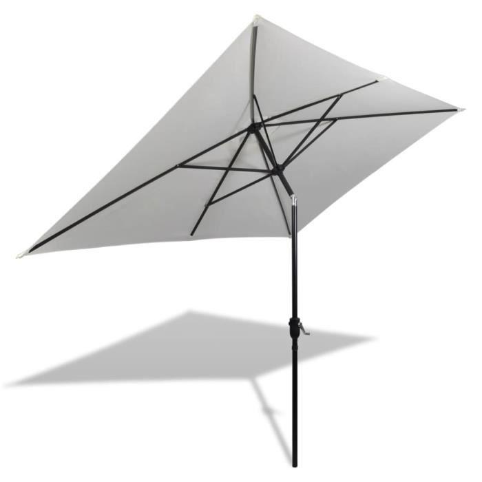 Parasol - Parasol de Jardin Parasol Moderne 200 x 300 cm Blanc sable Rectangulaire Haute qualité #99526