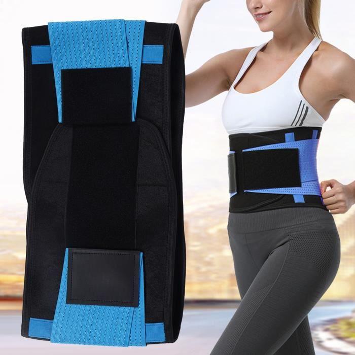 Ceinture de protection lombaire pour dos sport pour plein haltérophilie Squat Barb(XL Bleu)-JIA